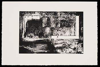"""Rectangle Enthroned,"" 2014, lithograph, to be given away at the reception"