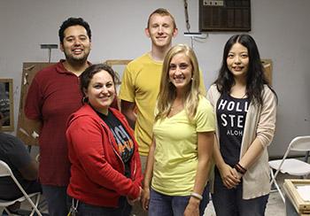 Talent Agency teaching assistants include, from left, Alberto Veronica, Rebecca Aloisio, Tim Grayson, Hillary Schwickerath and Kejun Zhao.