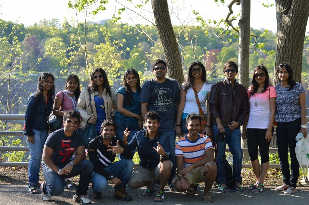 Graduate students of the College of Engineering and Computer Science take in the sights of Niagara Falls. They include Sivaraman Radharam , Dyuthi Kurapti ,Monica Kumar , Yukesh Vijayakumar , Swetha Srinivasan , Lavanya Ranganathan , Reshmi Mandhavan , Shyam Sunder and Raj Kumaran.