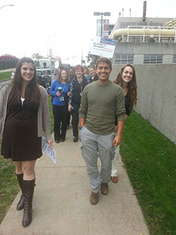 Participants walk the upstate loop during last year's Walktober event.