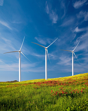Renewable sources, such as wind power, are one component of Syracuse University's master plan.