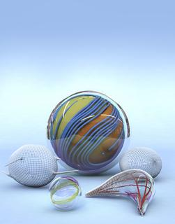 A variety of vesicle shapes (Photo courtesy of Christoph Hohmann, Nano Initiative Munich)