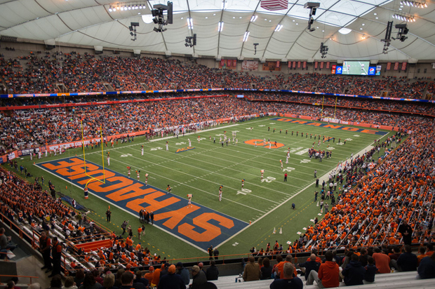 Inside the Carrier Dome for the Orange Central 2014 football game against Florida State University.