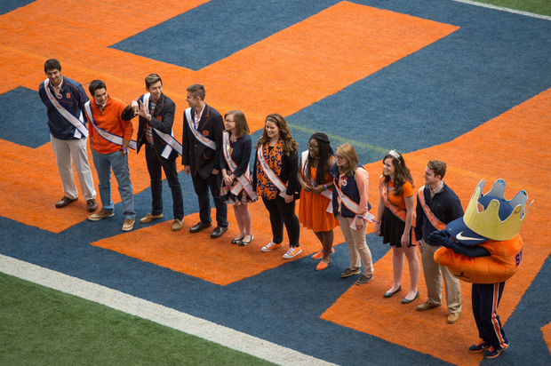 Orange Central 2014 presents Homecoming Court, including Otto on the far right.