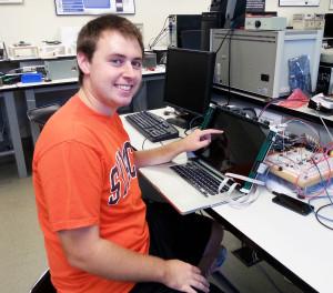 Nick Danyluk at his computer