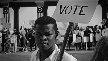 A young man works to register voters during Freedom Summer, 1964.