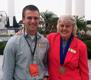 Ryan Milcarek with Hall of Fame Astronaut Shannon Lucid