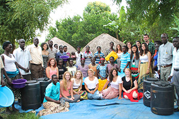 Joyce LaLonde led a group of 14 Syracuse University students to Uganda this summer as part of Nourish International. The group worked to educate local residents about health and sanitation; maternal and child health and financial literacy.
