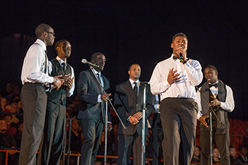 Students perform at the 2014 Martin Luther King Jr. Celebration in the Carrier Dome.