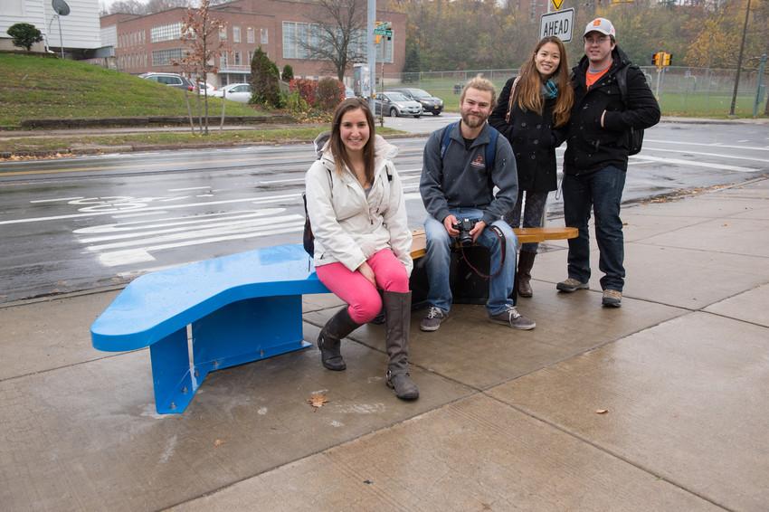 Community Ambassadors Euclid art bench