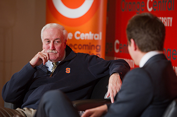 O'Keefe participates in an event during Orange Central in 2011.