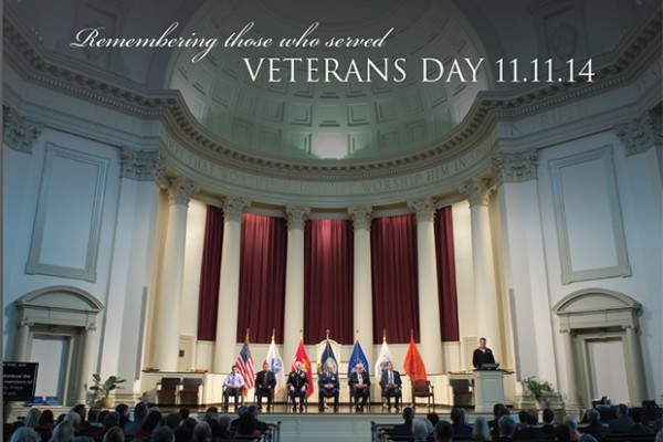 A Veterans Day ceremony will be held Nov. 11 at 11 a.m. at Hendricks Chapel.
