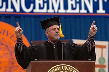 Billy Joel speaks at Syracuse University's 2006 Commencement.