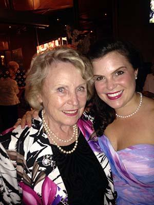 Weiser with her mentor, asdfasdfasdf