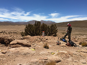 Devin McPhillips on location in South America