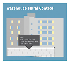 The mural contest is open to students in any of the School of Design's programs.