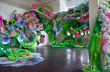 "A previous installation of Crystal Wagner's, ""Pseudoscape,"" 2014"