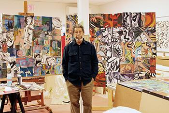 Juan Cruz with some of his reconfigured work