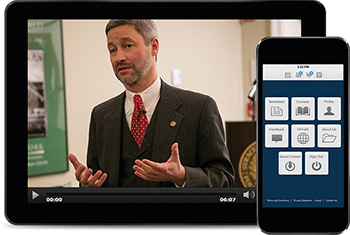 The online degree programs also allow students to access their coursework through a mobile application.