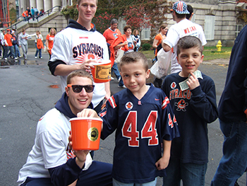 Students collect donations during a previous Dollar Day at the Dome event.