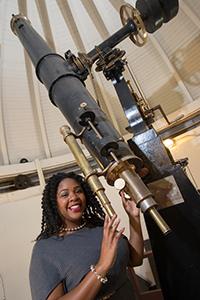 Jedidah Isler in Syracuse University's Holden Observatory