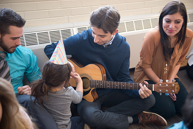 Music is a natural and important part of a young child's growth and development.