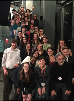Museum studies students, professors and alumni in attendance at the Museum Association of New York Conference
