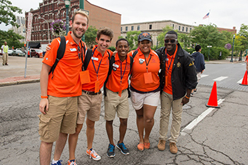 Orientation Leaders during the 2014 Citrus in the City event