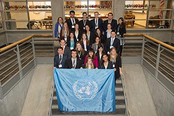 The University's Model UN delegation