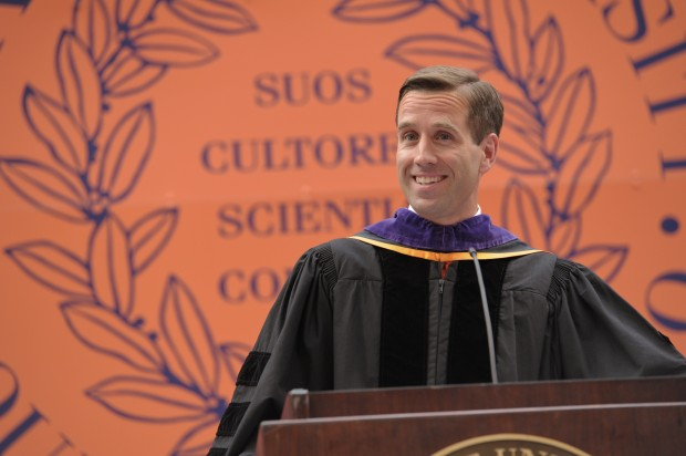 Beau Biden, L'94 delivering the Commencement speech at the College of Law on May 13, 2011