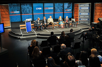 Representatives from the IVMF at Syracuse University, USAA, The Walt Disney Company, American Express, and Lockheed Martin Corporation participate in a panel discussion on Veteran and Family Owned Businesses: Inclusion in Private Sector Supply Chains during the May 5 Coalition launch event.