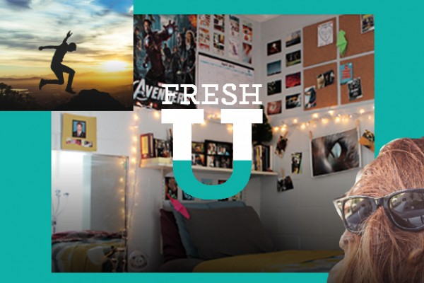 Fresh U was created by Kate Beckham for college freshmen. (Photos by Joshua Earle, Nataly A. and Ryan McGuire, from left)