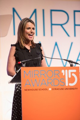 Savannah Guthrie emcees the annual Mirror Awards ceremoney in New York City on Thursday, June 11.