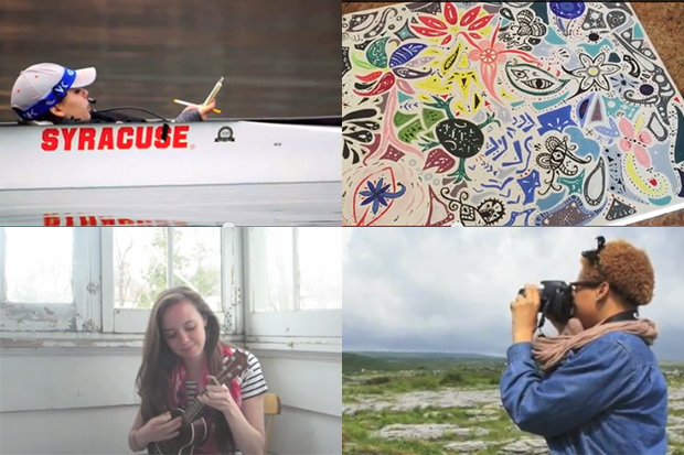 Newhouse graduate students in Corey Takahashi's assdf class made videos about their lives.