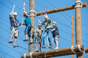 Pre-registration for the Faculty-Staff Challenge Course Day is due by Friday, July 24.