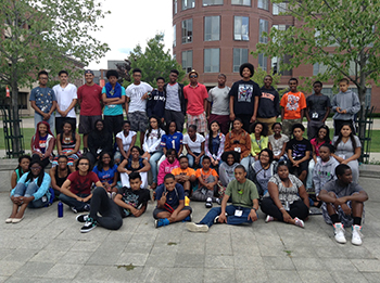 Participants in the NSBE Jr. program