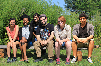 Talen Agency members, from left: Stephanie Holmes, Mariah Scott G'16, Alia Anamaria '18, Jeremy Horseman G'16, Jessica Whitley '18, Lazaro Sanchez '16