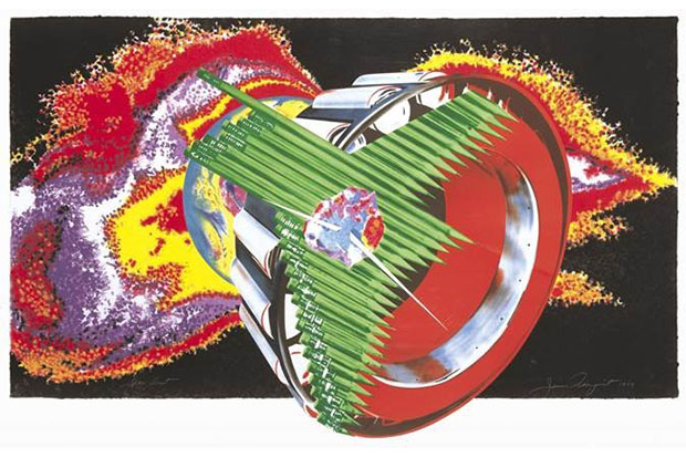 James Rosenquist, Space Dust, 1989. SUAC 2002.0052. Image courtesy of the artist. © 2015 James Rosenquist/Licensed by VAGA, New York. Used by permission of the artist. All rights reserved.