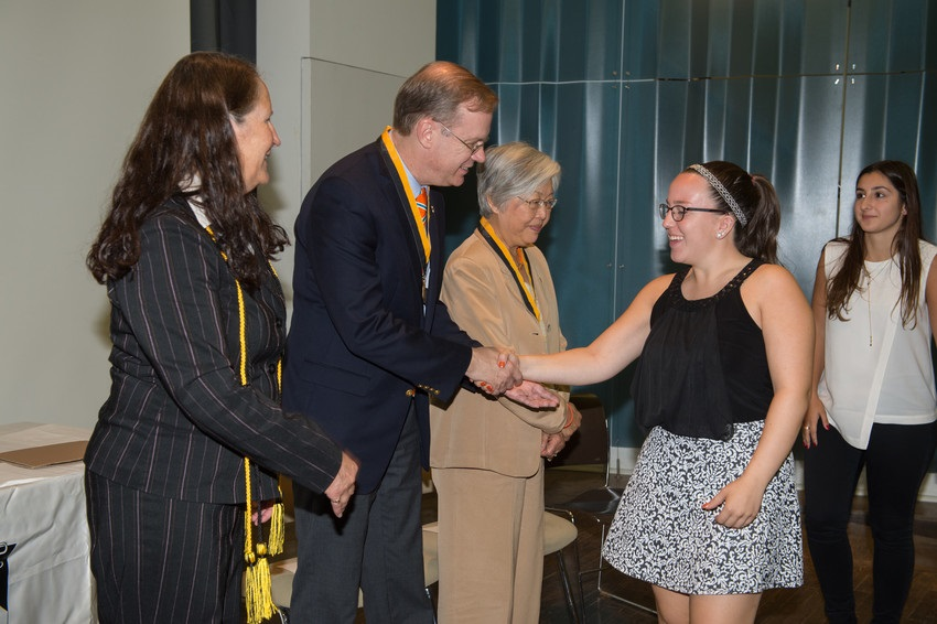 Family Weekend 2015 Phi Eta Sigma Honor Society Induction Ceremony Chancellor Syverud and Dr. Ruth Chen