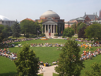 An aerial view of last year's Student Involvement Fair