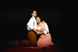 "Ethan Saviet and Ana Marcu in SU Drama's ""Parade"" from last season (Photo by Michael Davis)"
