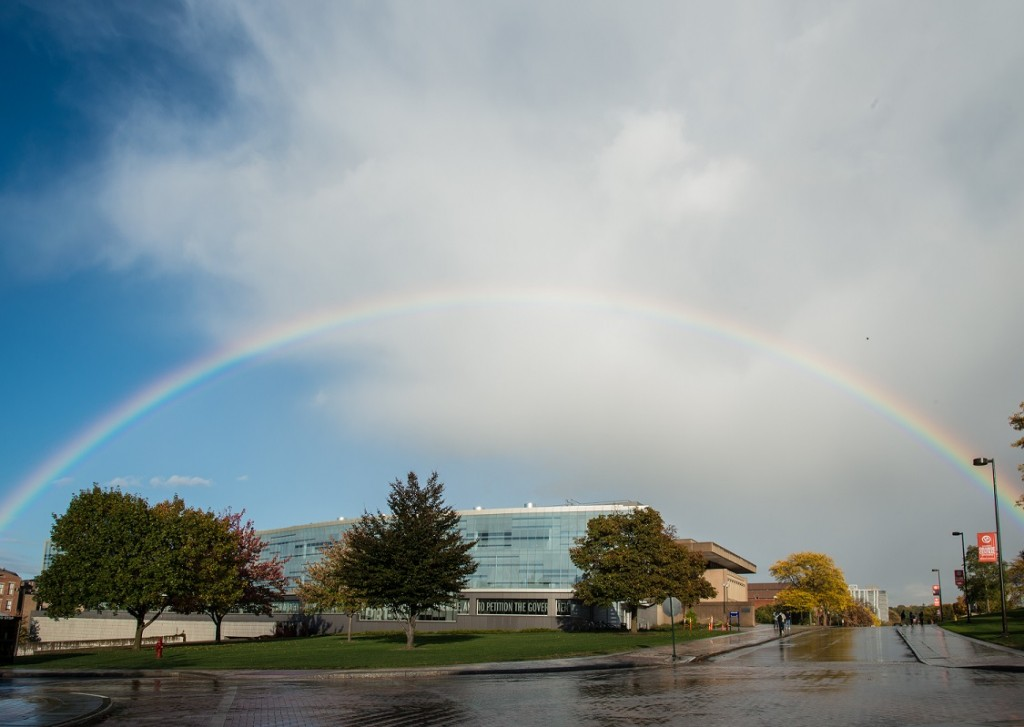 Rainbow over Newhouse