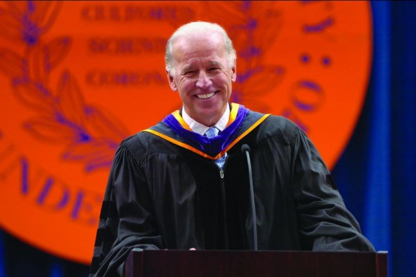 Vice President Biden spoke at Commencement Ceremonies in 2009.
