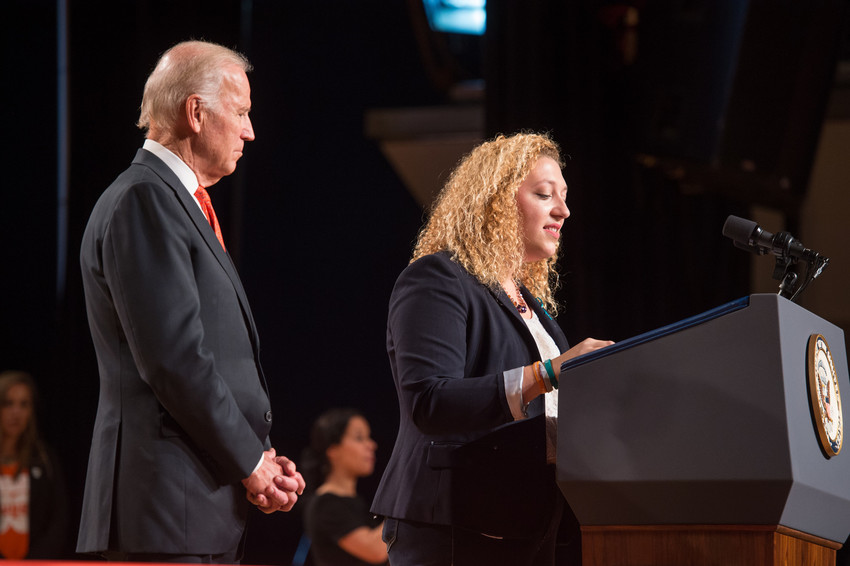 Vice President Joseph Joe Biden and Samantha Skaller