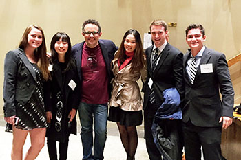 Syracuse University Entrepreneurship Club members with Phil Libin, center, asdfsdf