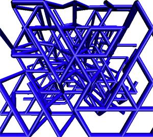 A digital rendering of a filament network