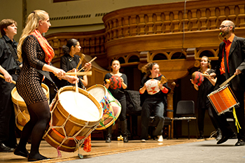 Samba Laranja, the Syracuse University Brazilian Ensemble, is one of several ensembles open to non-music majors.