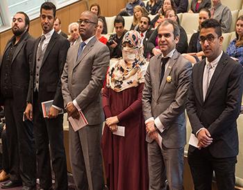 The six LL.M. in American Law graduates