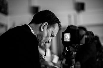 Heisler behind the camera (Photo by Hua Yu)