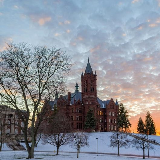 Crouse College Sunset